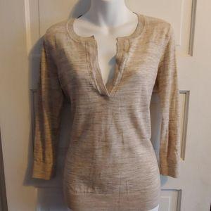 Loft Heathered V-Neck Sweater